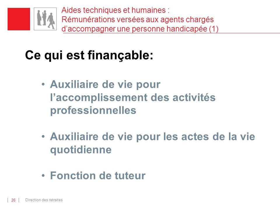 Aides techniques et humaines : Rémunérations versées aux agents chargés d'accompagner une personne handicapée (1)