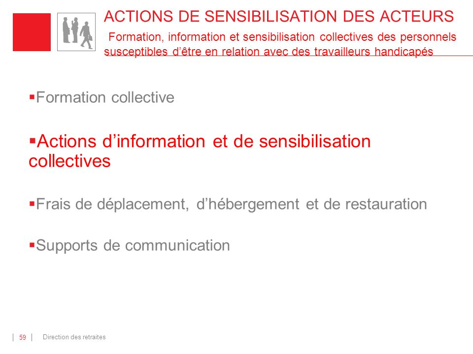 Actions d'information et de sensibilisation collectives
