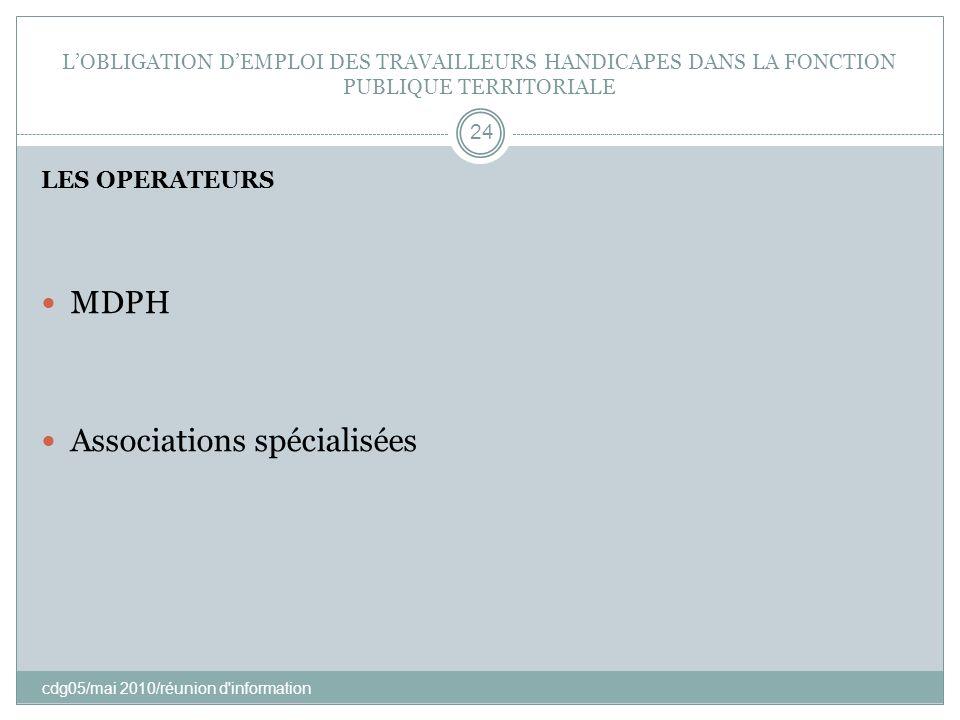 Associations spécialisées