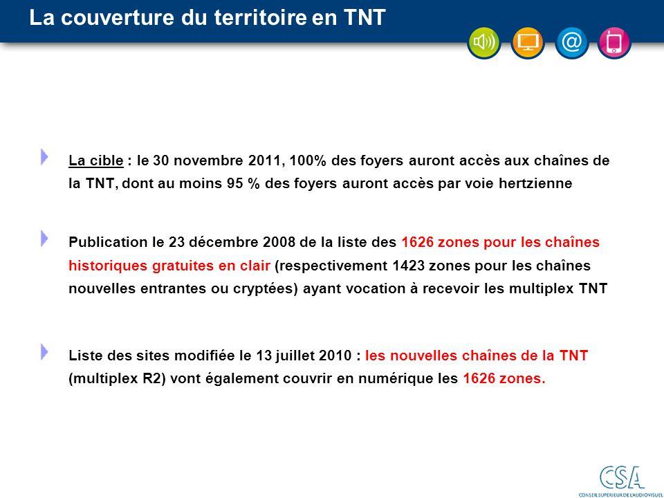 La couverture du territoire en TNT