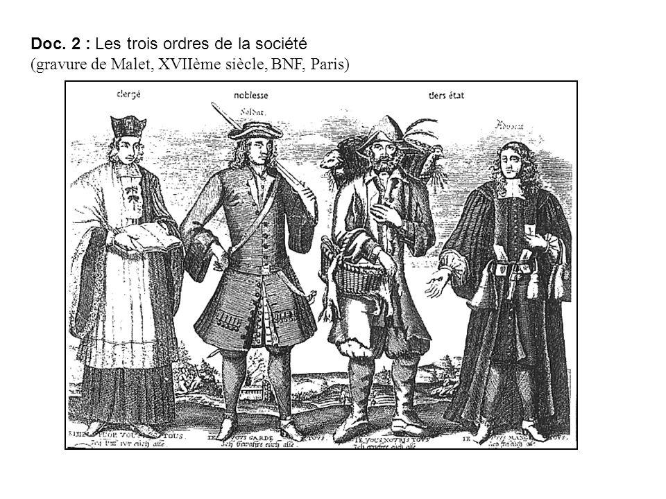 Doc. 2 : Les trois ordres de la société