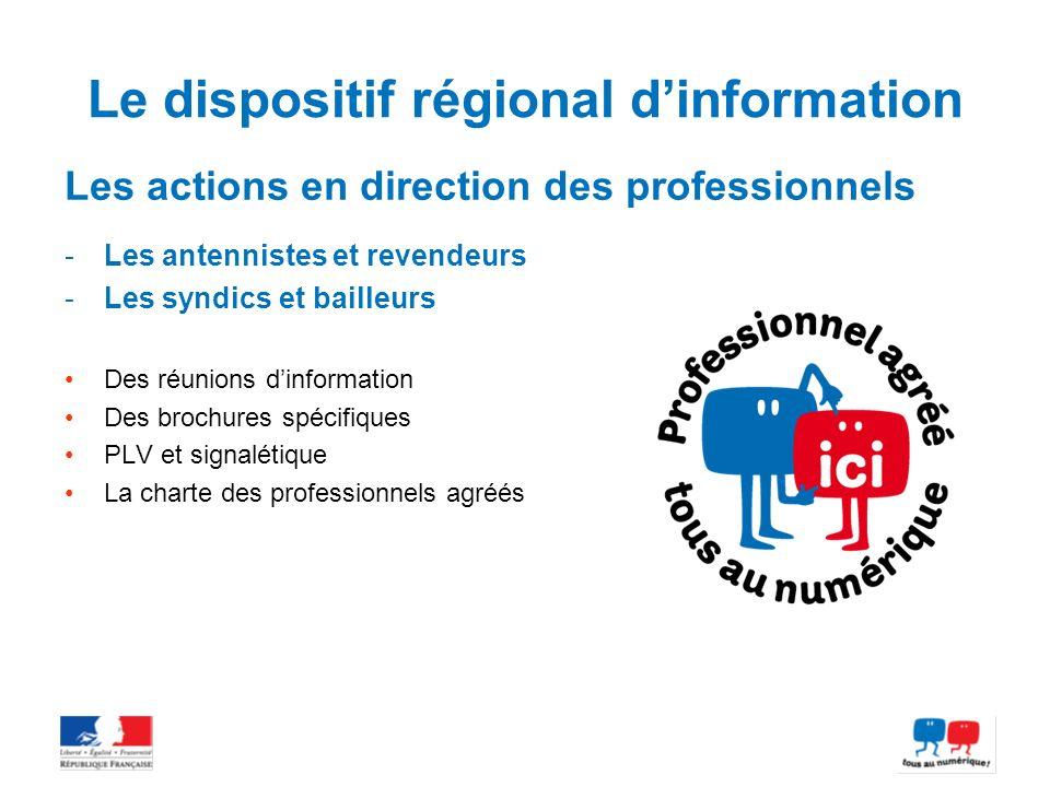Le dispositif régional d'information