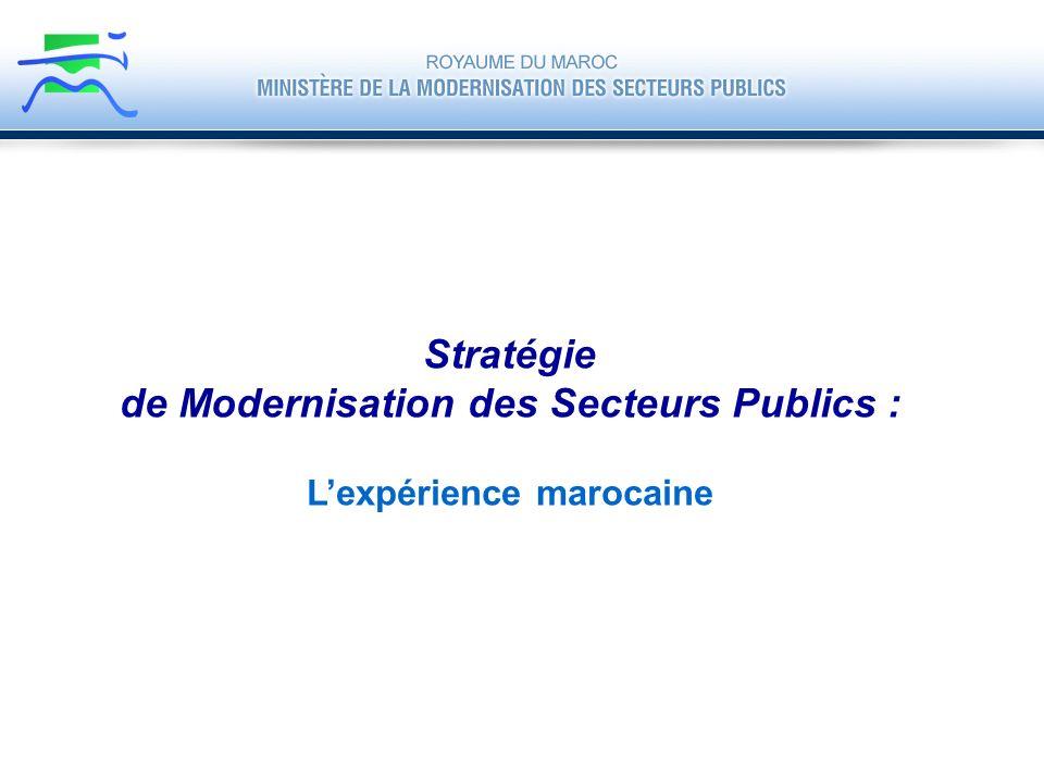 de Modernisation des Secteurs Publics : L'expérience marocaine