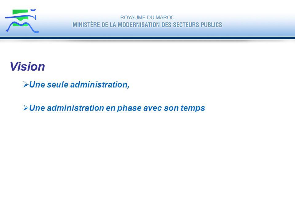 Vision Une seule administration,