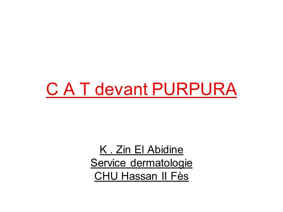 K . Zin El Abidine Service dermatologie CHU Hassan II Fès
