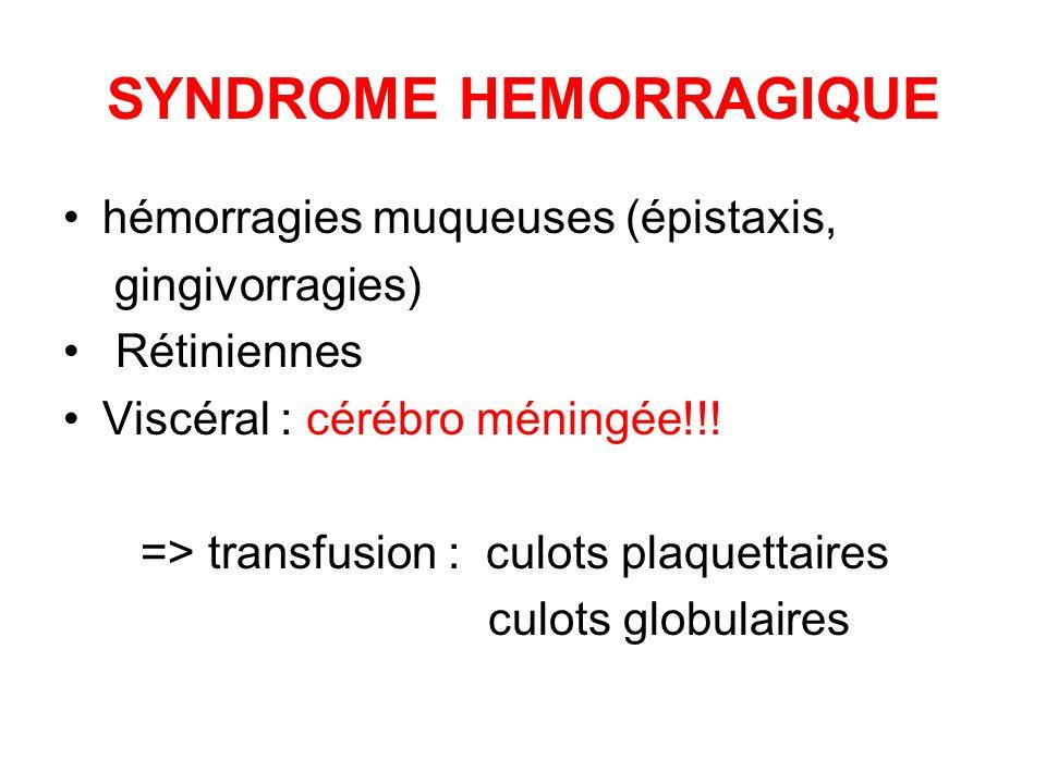 SYNDROME HEMORRAGIQUE