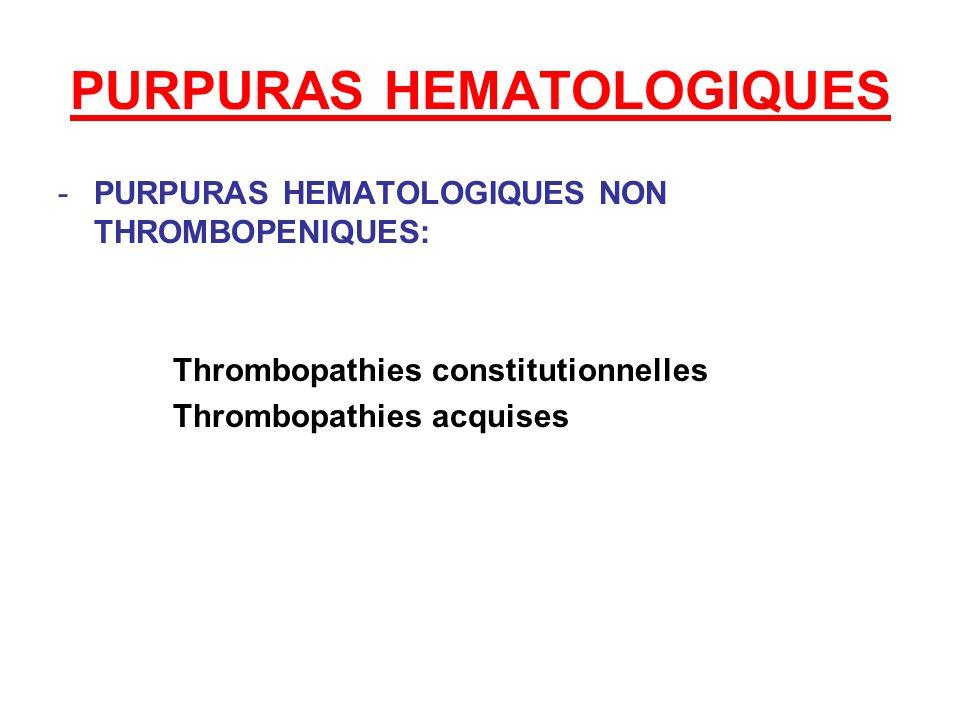 PURPURAS HEMATOLOGIQUES