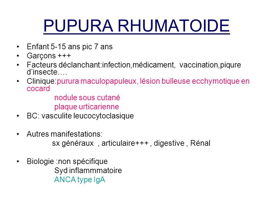 PUPURA RHUMATOIDE Enfant 5-15 ans pic 7 ans Garçons +++