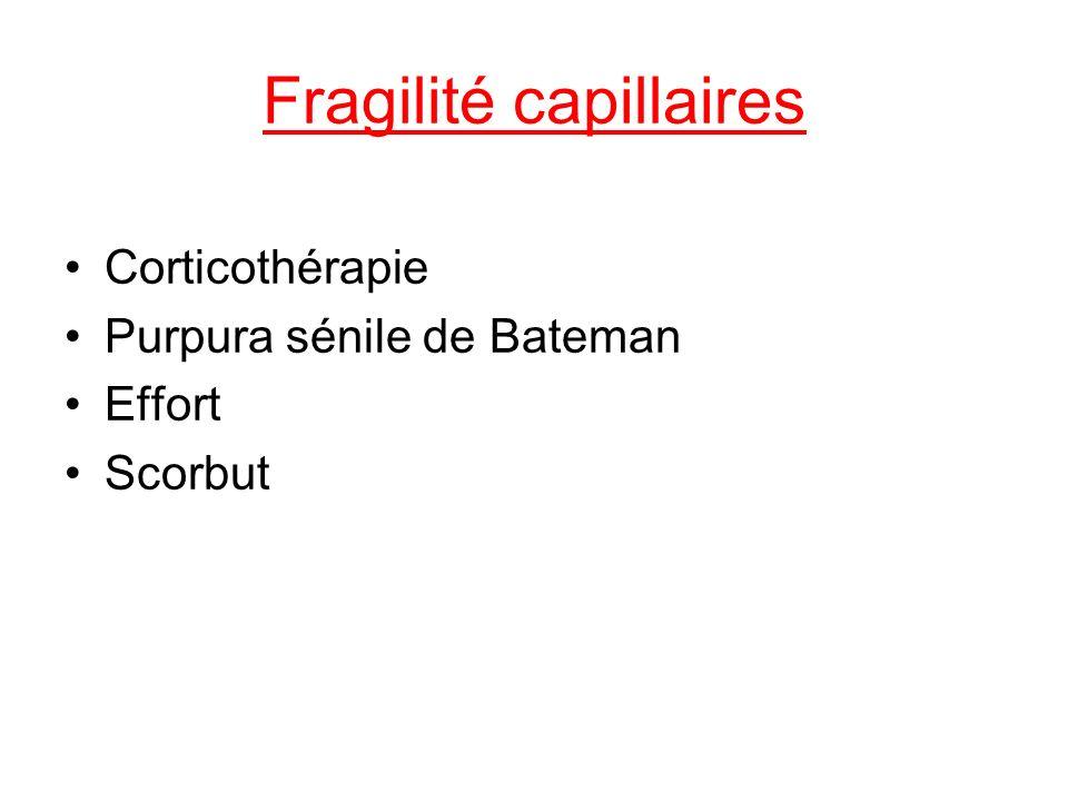 Fragilité capillaires