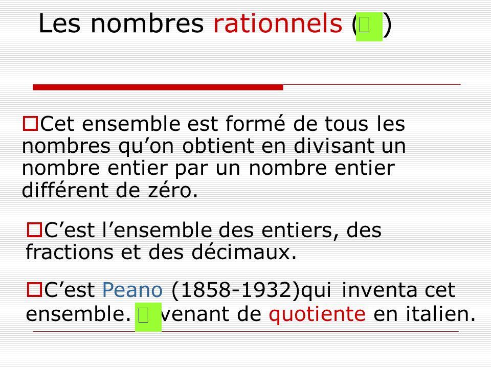 Les nombres rationnels ( )