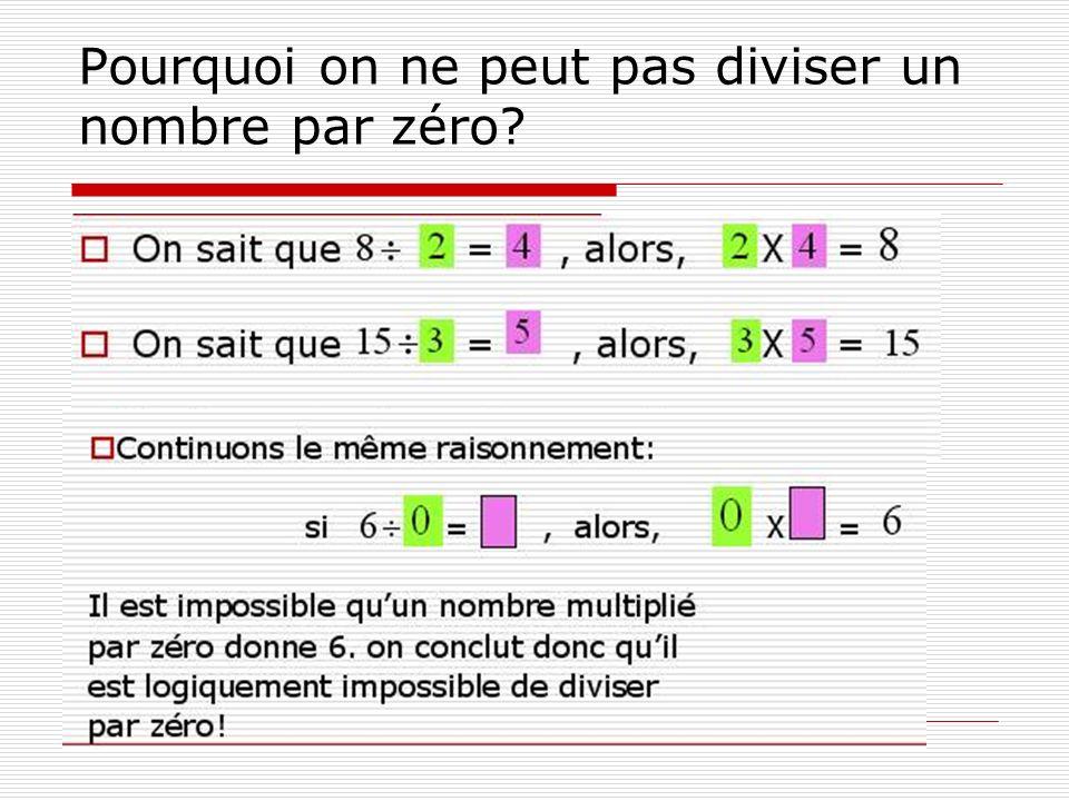 Pourquoi on ne peut pas diviser un nombre par zéro