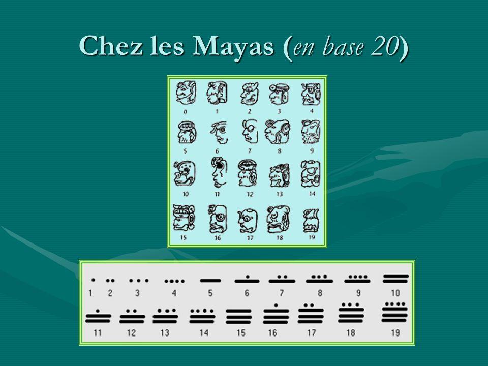 Chez les Mayas (en base 20)