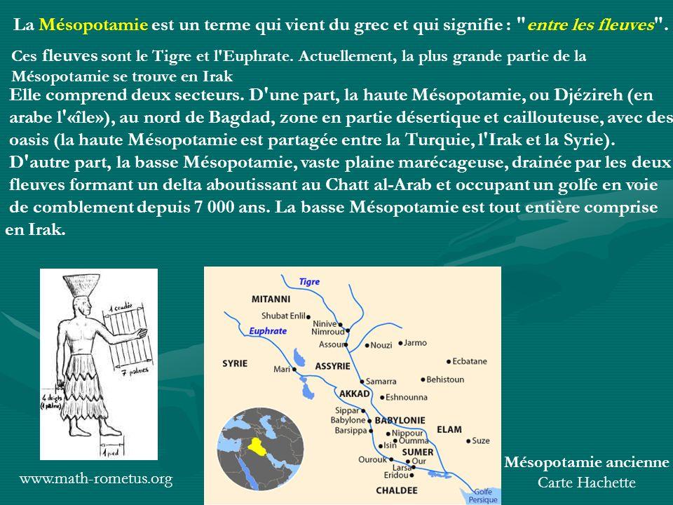 Mésopotamie ancienne Carte Hachette