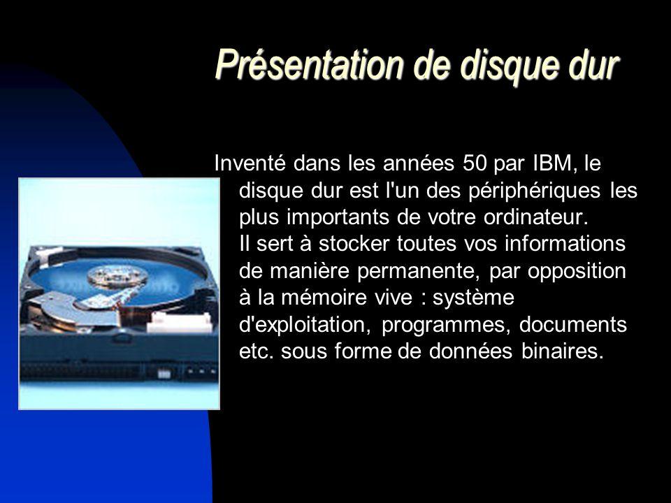 Présentation de disque dur