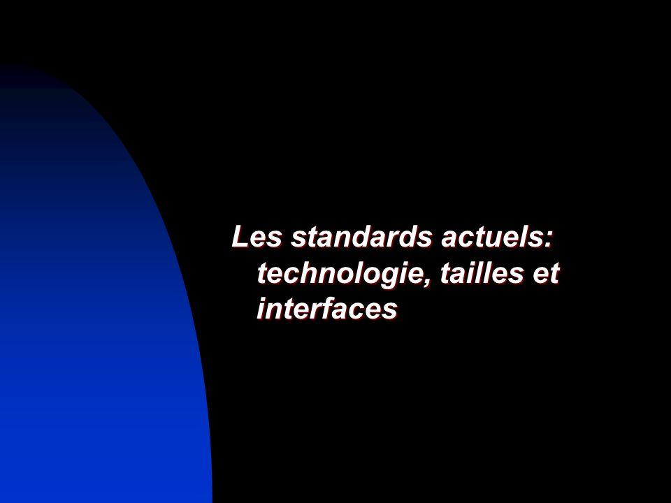 Les standards actuels: technologie, tailles et interfaces