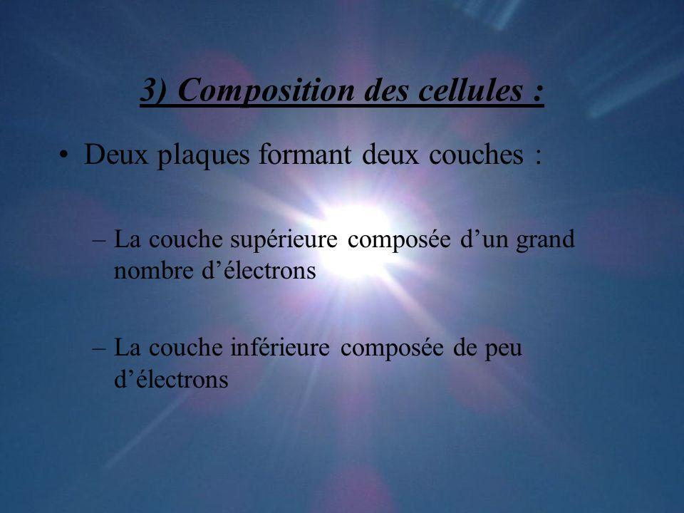3) Composition des cellules :