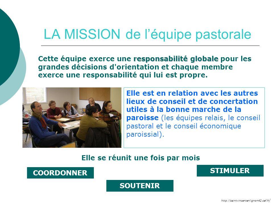 LA MISSION de l'équipe pastorale