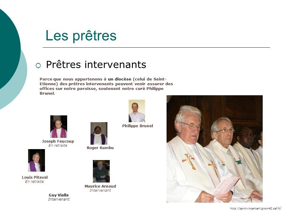 Les prêtres Prêtres intervenants