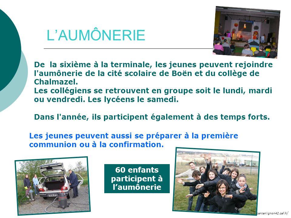 60 enfants participent à l'aumônerie