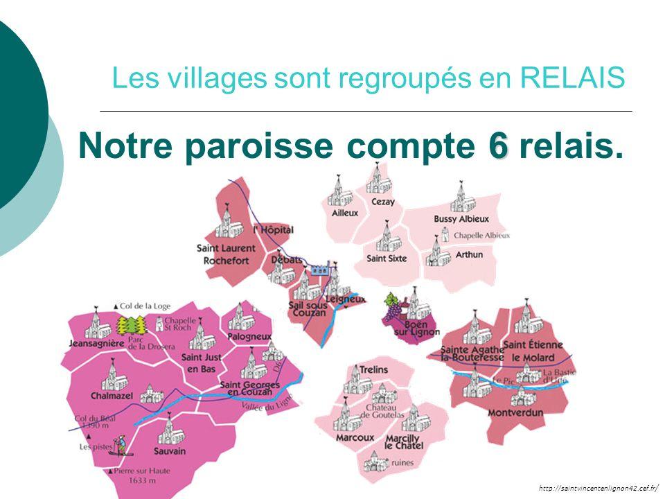 Les villages sont regroupés en RELAIS