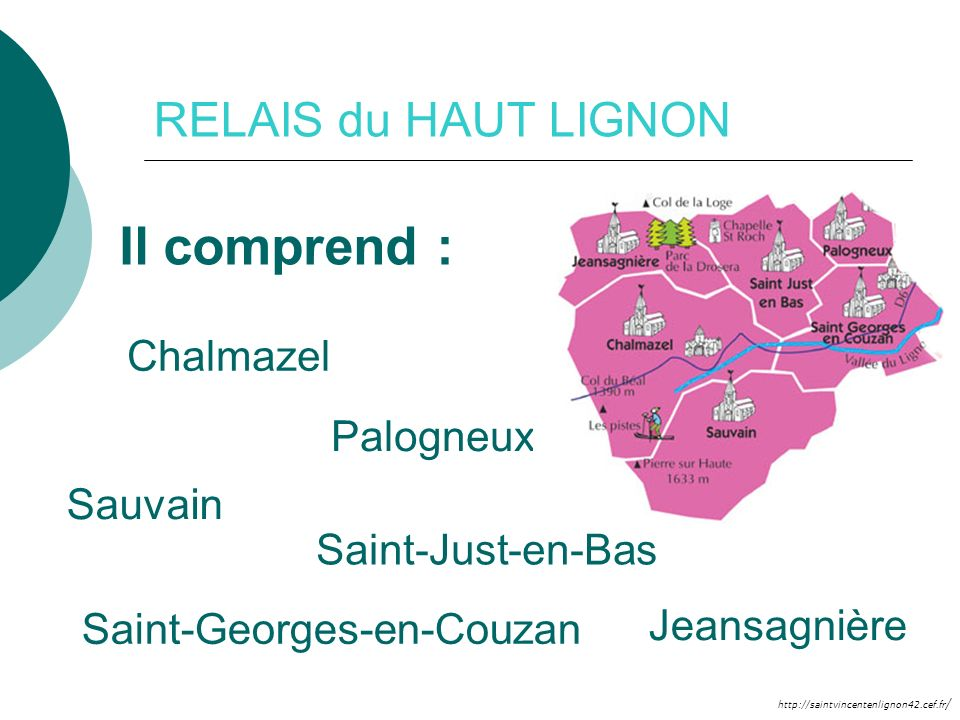 Il comprend : RELAIS du HAUT LIGNON Chalmazel Palogneux Sauvain