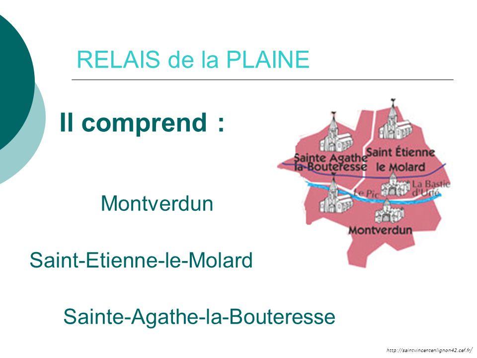 Il comprend : RELAIS de la PLAINE Montverdun Saint-Etienne-le-Molard
