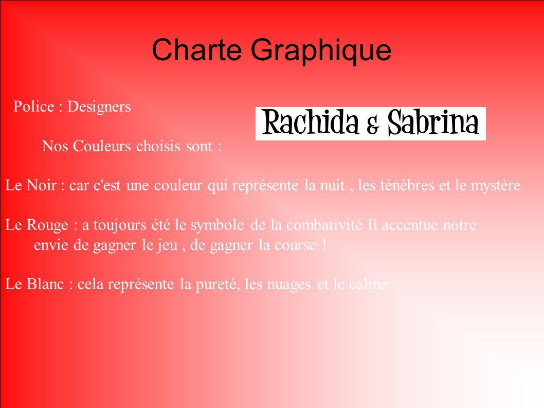 Charte Graphique Police : Designers Nos Couleurs choisis sont :