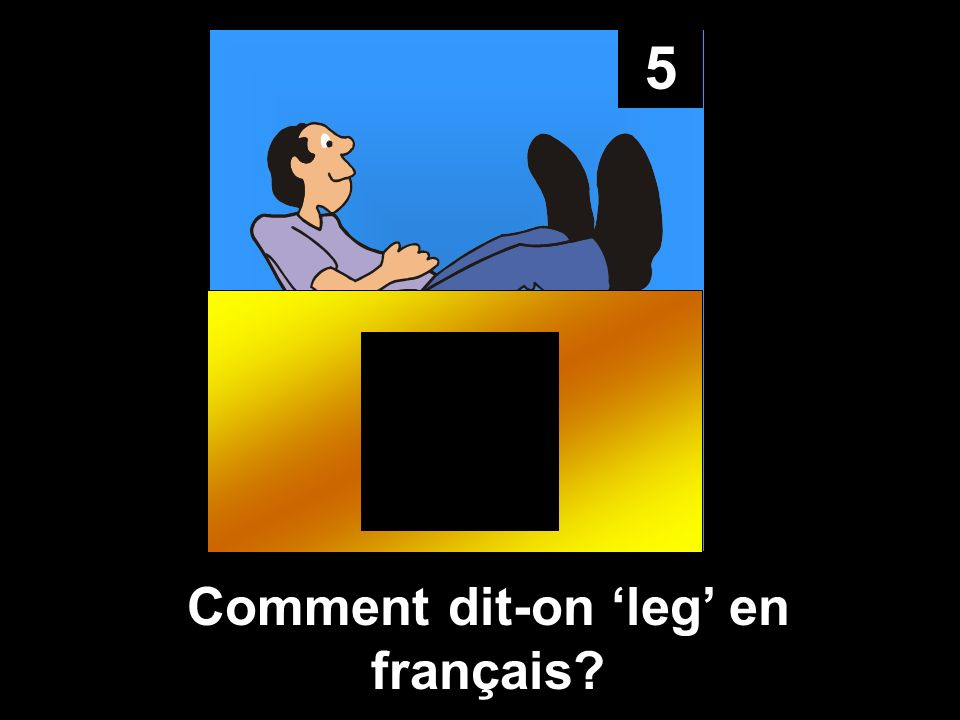 Comment dit-on 'leg' en français