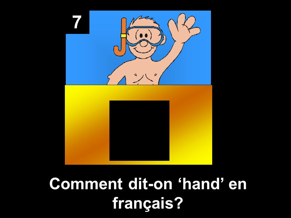 Comment dit-on 'hand' en français