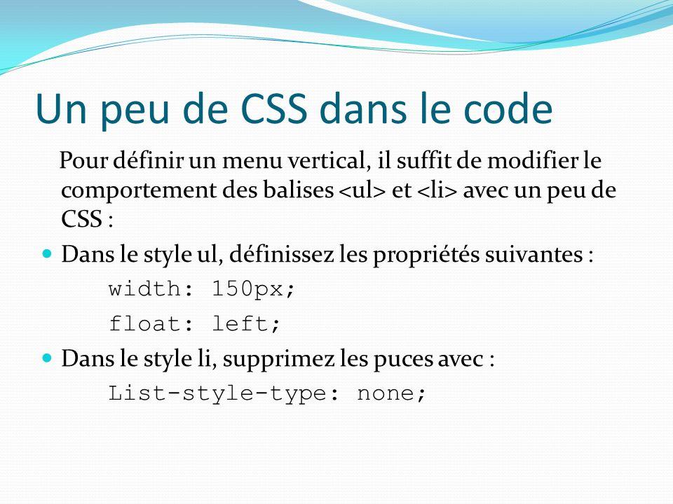 Un peu de CSS dans le code