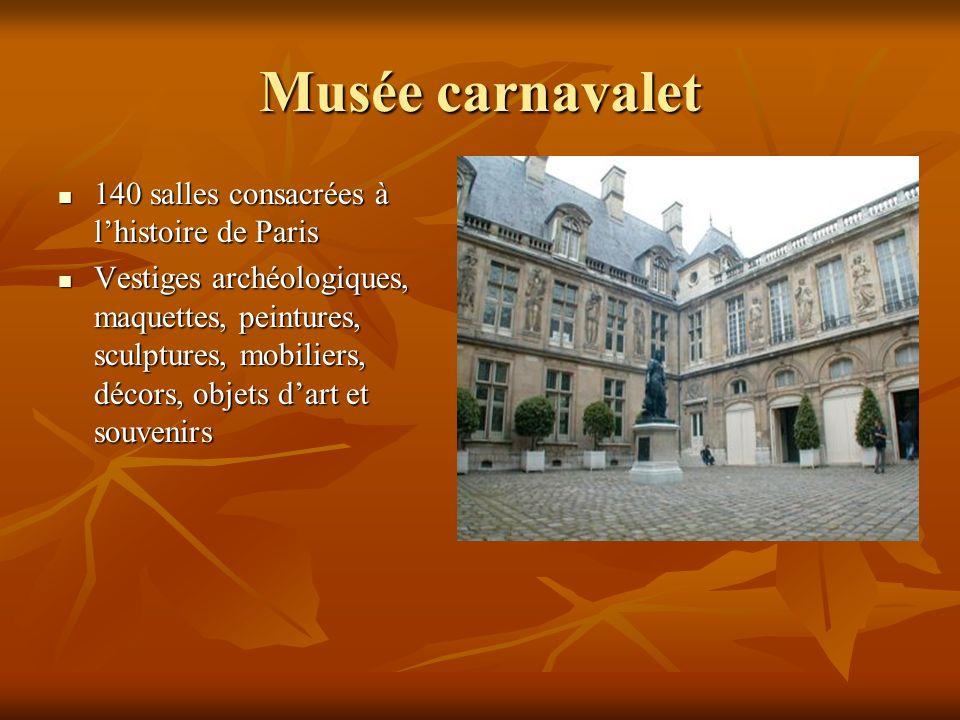Musée carnavalet 140 salles consacrées à l'histoire de Paris