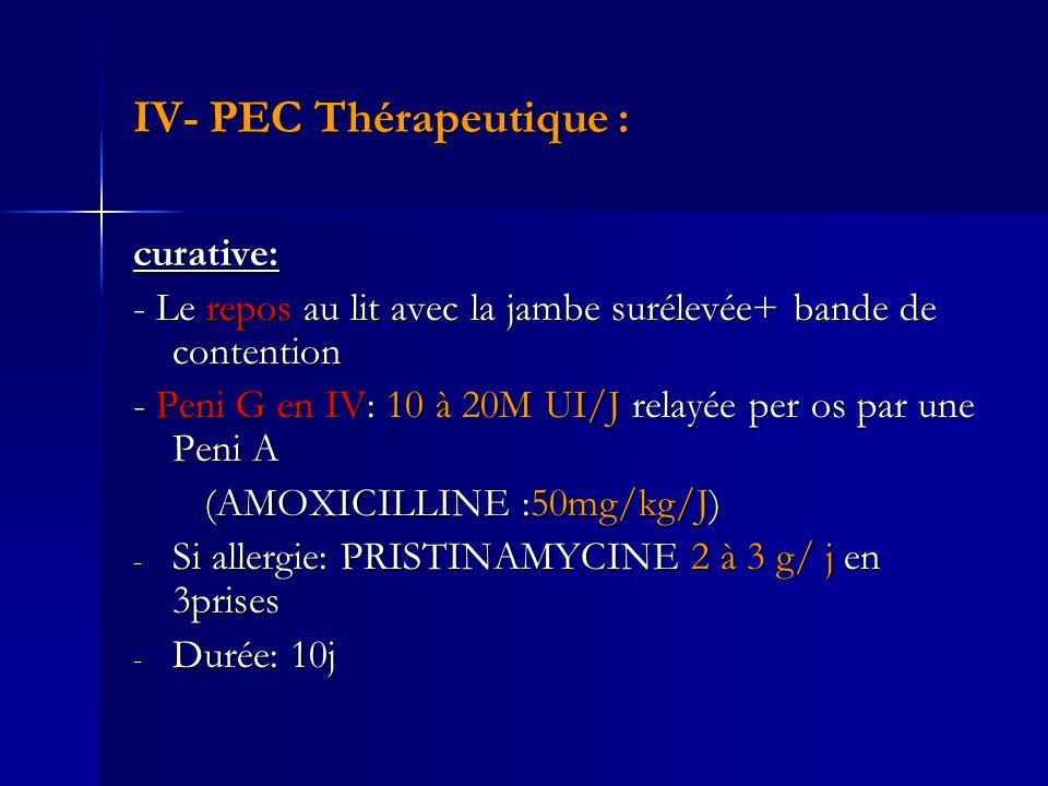 IV- PEC Thérapeutique :
