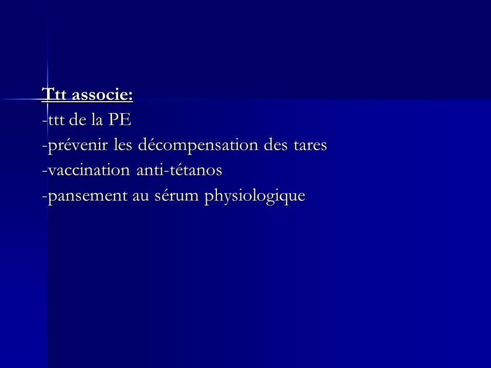 Ttt associe: -ttt de la PE. -prévenir les décompensation des tares.