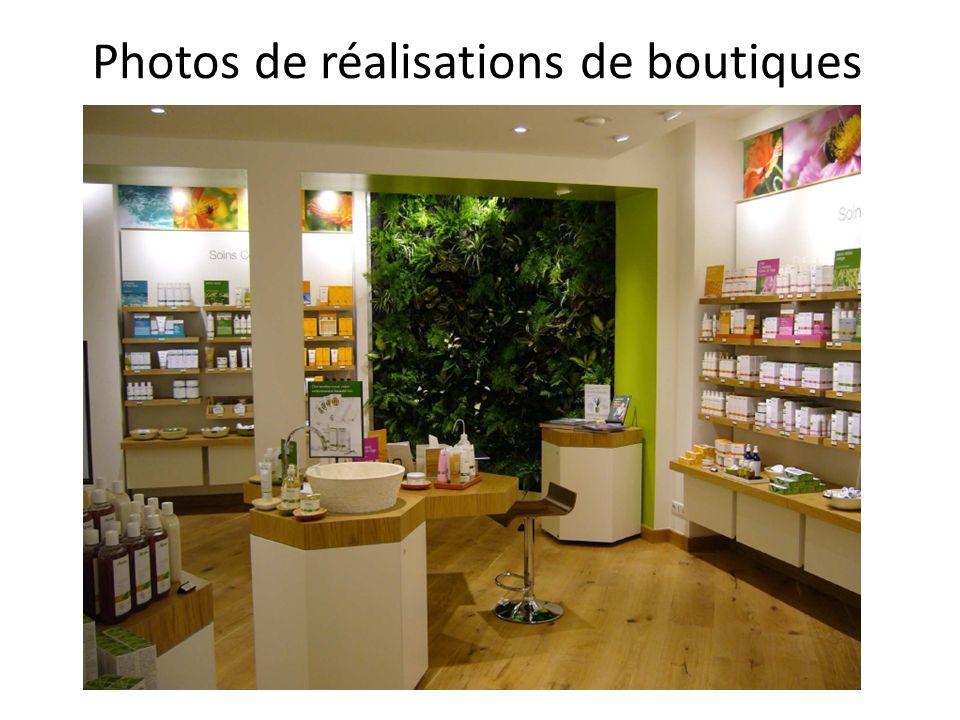 Photos de réalisations de boutiques
