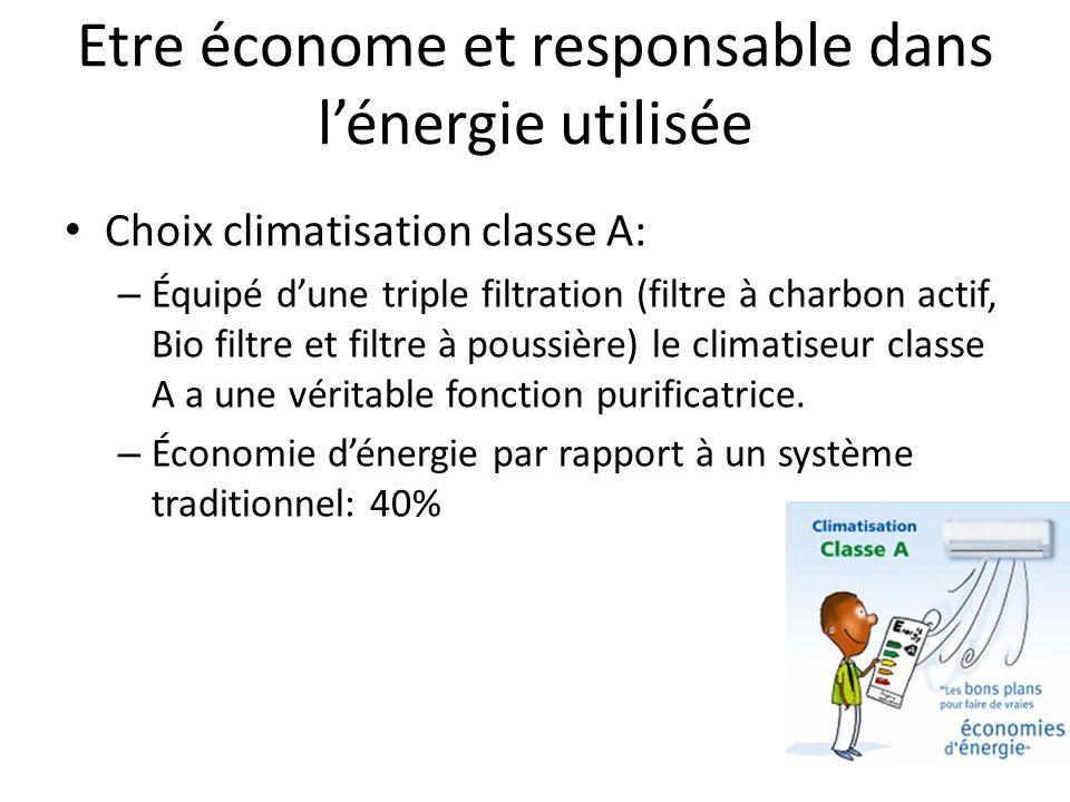 Etre économe et responsable dans l'énergie utilisée