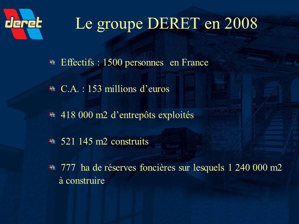 Le groupe DERET en 2008 Effectifs : 1500 personnes en France