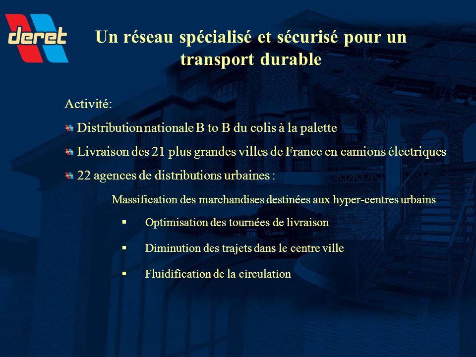 Un réseau spécialisé et sécurisé pour un transport durable