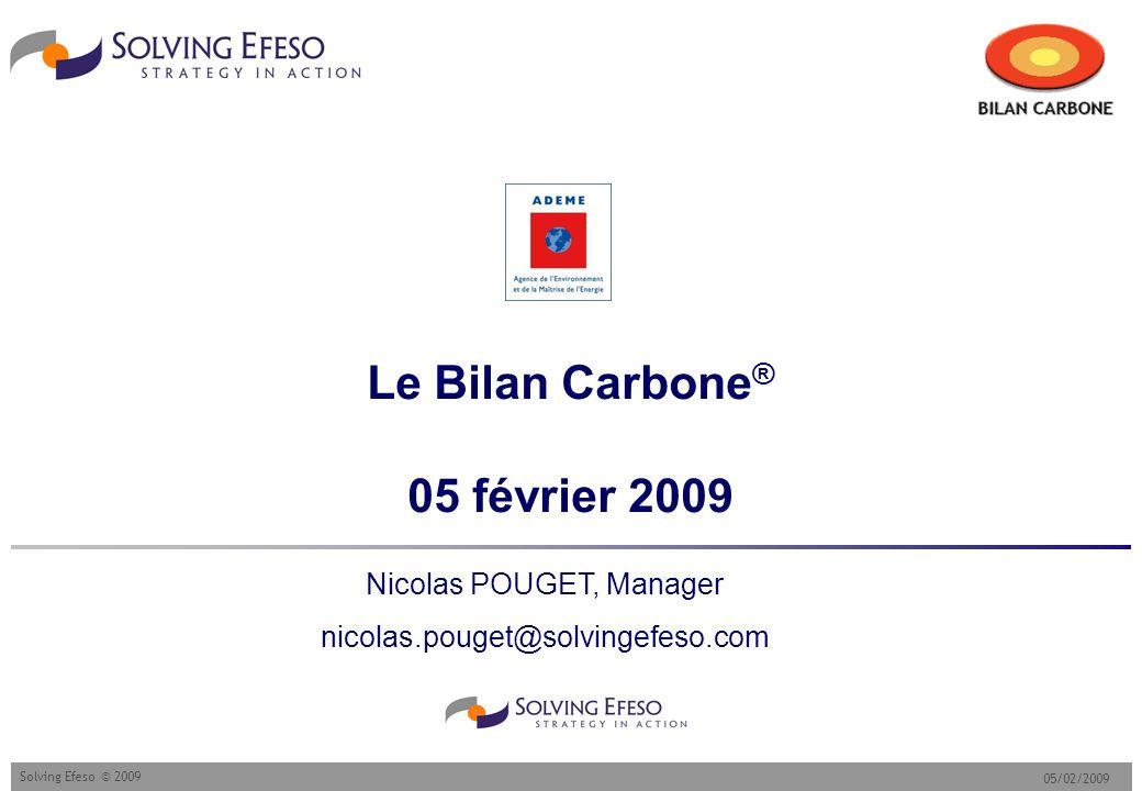 Le Bilan Carbone® 05 février 2009