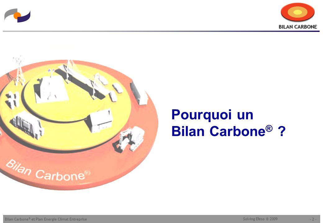 Pourquoi un Bilan Carbone®