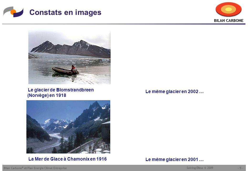 Constats en images Le glacier de Blomstrandbreen (Norvège) en 1918