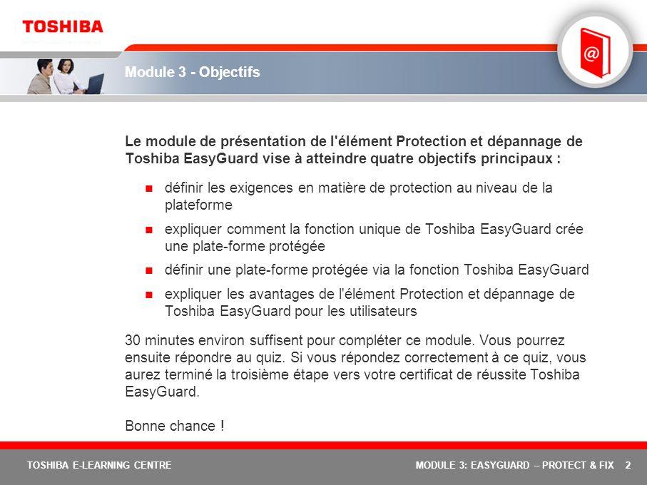 définir une plate-forme protégée via la fonction Toshiba EasyGuard