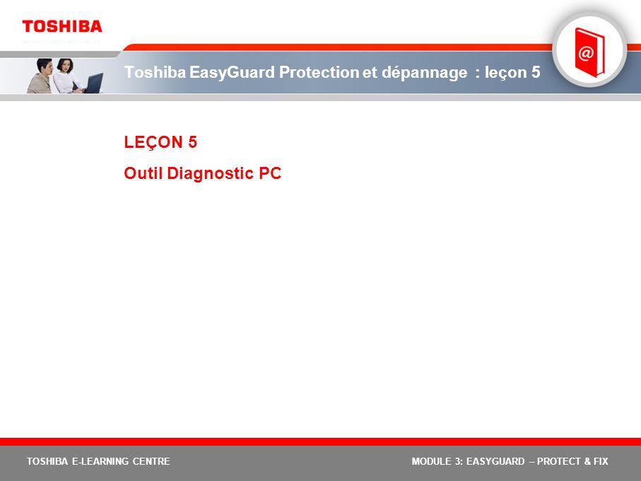 Toshiba EasyGuard Protection et dépannage : leçon 5