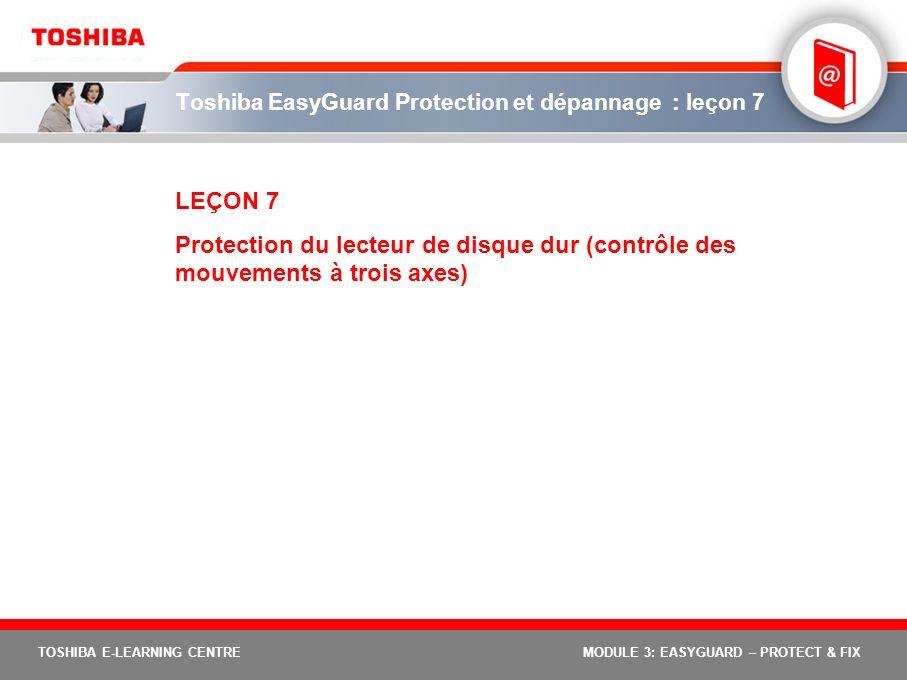Toshiba EasyGuard Protection et dépannage : leçon 7