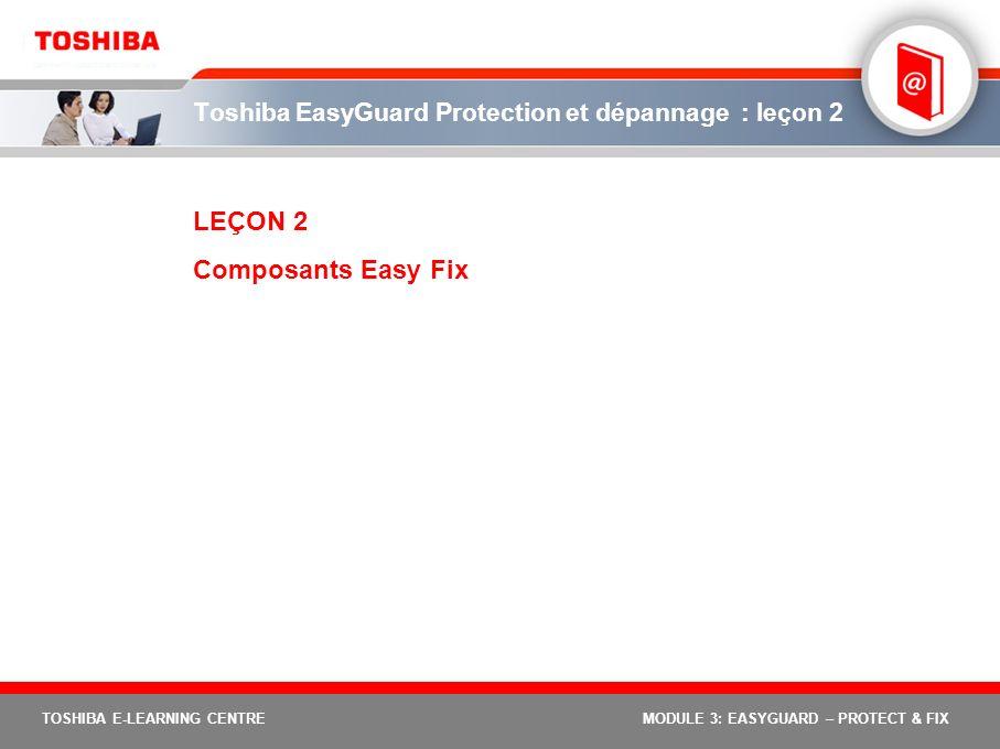 Toshiba EasyGuard Protection et dépannage : leçon 2