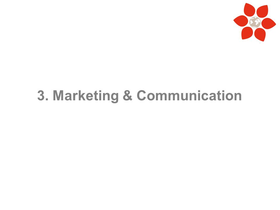 3. Marketing & Communication