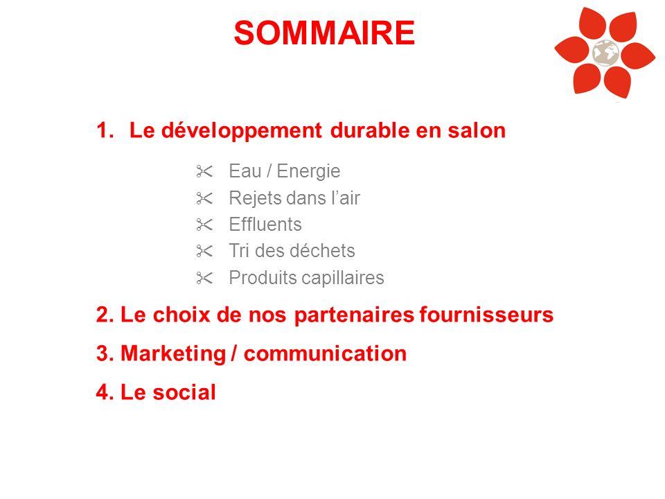 SOMMAIRE Le développement durable en salon