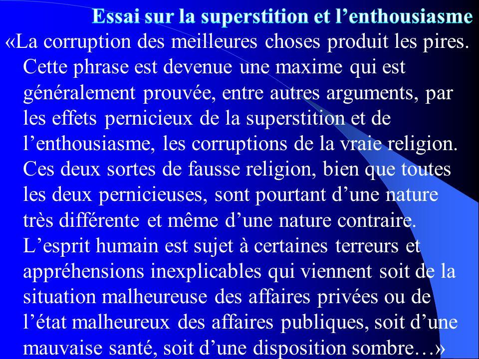 Essai sur la superstition et l'enthousiasme