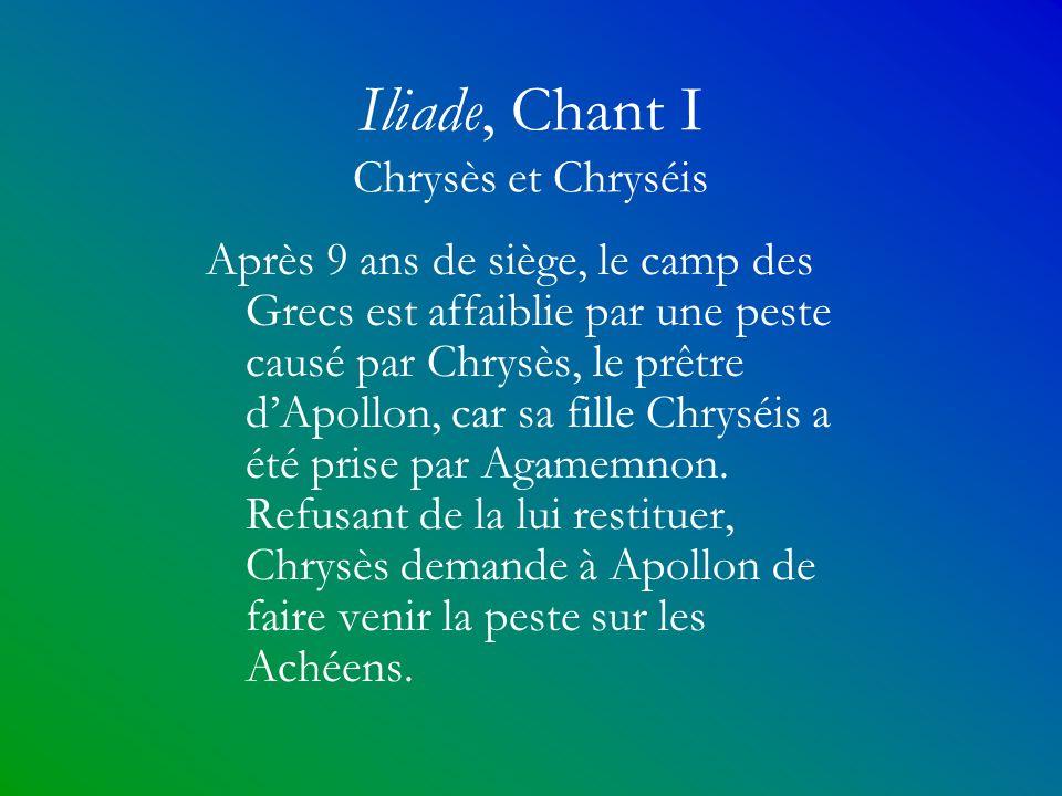Iliade, Chant I Chrysès et Chryséis