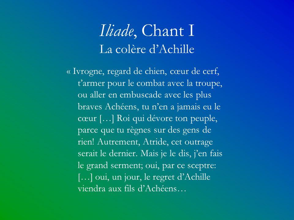 Iliade, Chant I La colère d'Achille