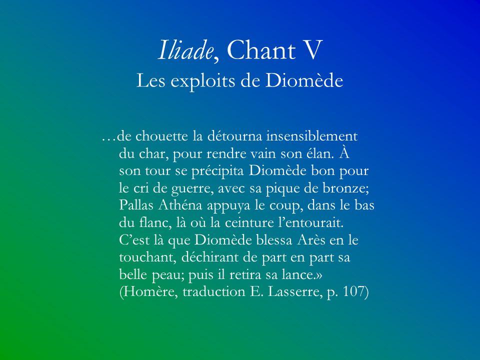 Iliade, Chant V Les exploits de Diomède